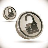 3d图标锁定 免版税库存图片