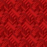 3d红色立方体样式 库存照片