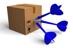 3D图表,交付包裹,快,准时,运输,箱子,箭 库存照片
