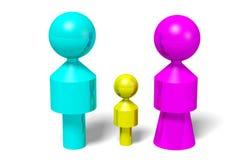 3D图表,性别问题,男性,女性,夫妇,  免版税库存图片