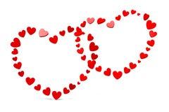 3D图表,情人节,心脏2月14日,愉快的华伦泰! … 图库摄影
