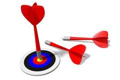 3D图表,箭,隐喻-目标… 免版税库存照片