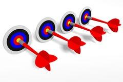 3D图表,箭,隐喻-目标… 免版税库存图片