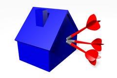 3D图表,隐喻,安置问题,抵押,箭,目标… 库存照片