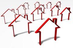 3D图表,隐喻,房地产,住房问题 库存图片