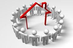 3D图表,隐喻,队,统一性,房地产 免版税库存图片
