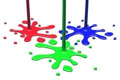 3D图表,隐喻, RGB -污点 免版税库存照片