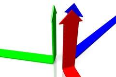 3D图表,隐喻, RGB -箭头 免版税库存图片