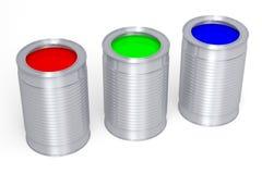 3D图表,隐喻, RGB -绘罐头 库存照片