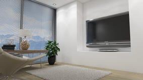 3d图象内部客厅 免版税图库摄影