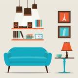 3d图象内部客厅 免版税库存照片