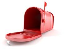 3d图象查出开放的邮箱 图库摄影