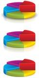 3D圆形统计图表1 库存照片