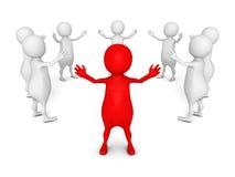 3d圆的队小组的领导人 领导概念 免版税图库摄影