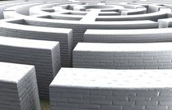 3d圆计算机迷宫塑造 皇族释放例证