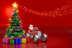 3d圣诞树翻译与点燃装饰和colo的 库存图片