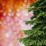 3d圣诞树装饰背景 免版税库存照片