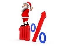 3d圣诞老人100%概念 免版税库存图片