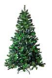 3d圣诞节图象查出的结构树白色 图库摄影