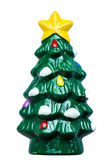 3d圣诞节图象查出的结构树白色 免版税库存图片