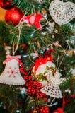 3d圣诞节装饰例证结构树 库存照片