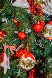3d圣诞节装饰例证结构树 免版税库存照片