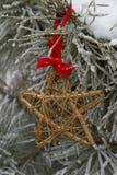 3d圣诞节金hdr回报星形 免版税库存照片