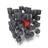3D立方体 免版税库存照片