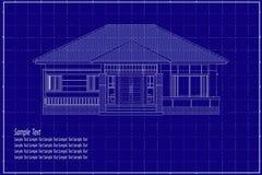 3D在图纸的大厦 免版税库存照片