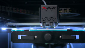3D在工作期间的打印机 库存图片