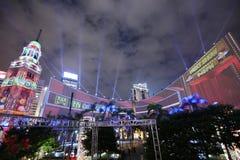 3D在开放广场的光展示2016年 免版税库存图片