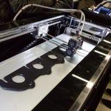 3d在技术插孔的打印机在米兰,意大利 图库摄影