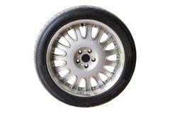 3d在橡胶轮胎轮子白色的背景例证 库存图片