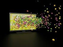 3D在电视的技术 库存照片