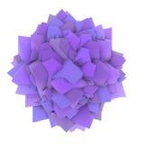 3d在白色的抽象紫色淡紫色形状 库存照片