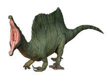 3D在白色的翻译恐龙Spinosaurus 皇族释放例证