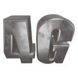 3D在白色的金属4G象 免版税库存照片