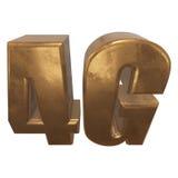 3D在白色的金4G象 免版税库存图片