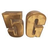 3D在白色的金5G象 库存图片