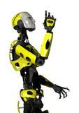 3D在白色的翻译机器人 免版税库存图片