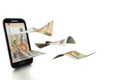 3D在白色背景掀动和隔绝的被回报的新加坡美元金钱 向量例证
