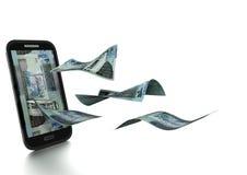 3D在白色背景掀动和隔绝的被回报的约旦金钱 向量例证