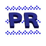 3D在白色背景隔绝的公共关系标志 免版税图库摄影