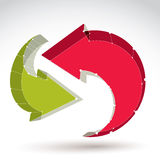 3d在白色背景隔绝的滤网时髦的网更新标志, co 免版税库存图片