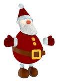 3D在白色隔绝的圣诞老人 免版税库存照片