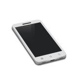 3d在白色隔绝的白色智能手机 免版税库存照片