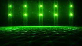3D在网际空间vj圈背景中绿化矩阵风景 库存例证