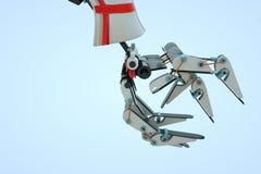 3D在行动的机器机器人 好的3D翻译 免版税库存图片