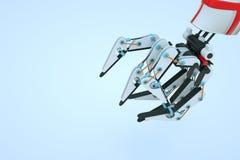 3D在行动的机器机器人 好的3D翻译 免版税库存照片