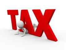 3d在词税困住的人 免版税库存照片